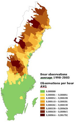 How Many Bears Do We Have In Sweden Scandinavian Brown Bear - Sweden map population
